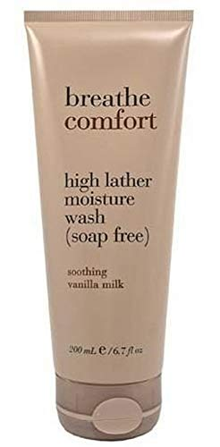 Breathe Comfort High Lather Moisture Wash Soap Free – Soothing Vanilla Milk 6.7 Fl Oz