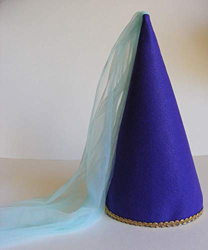 Girls Princess Cone Hat Princess Veil Hat Princess Tulle Hat Dress-up Play -