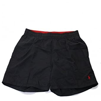 0b0a38666d Polo Ralph Lauren Hawaiian Swim Shorts Black: Amazon.co.uk: Clothing