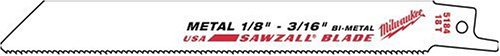 Milwaukee 48-01-6187 9-Inch, 14 Teeth per Inch, Super Sawzall Blades, 50-Pack ()