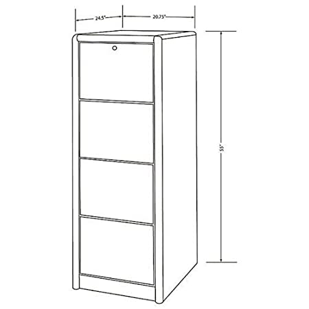 Fully Assembled Martin Furniture Contemporary 2 Drawer Lateral File Cabinet
