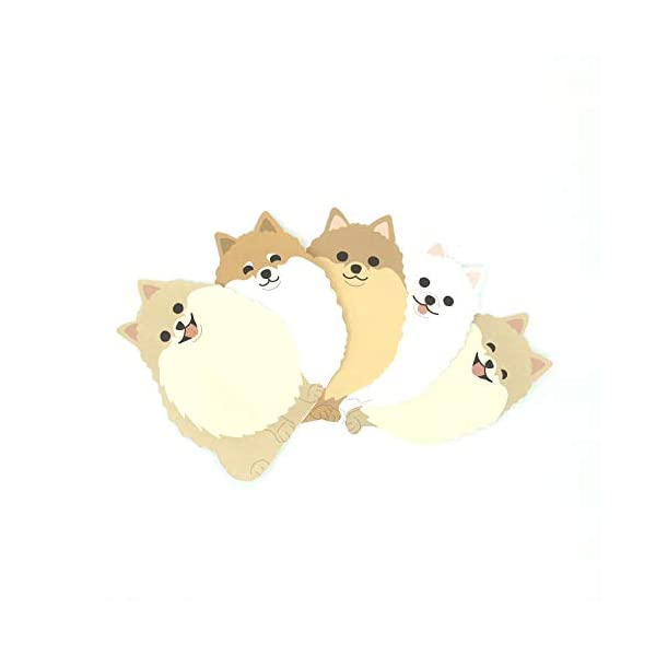 "Pomeranian Dog Die-cut Memo Pad 3.25""x4.5"" 90 Sheets 2"