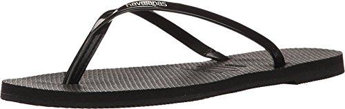 - Havaianas Women's You Metallic Sandal, Black,39/40 BR (9-10 M US)