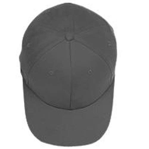 (Yupoong - Flexfit® Brushed 6-Panel Cap, Dark Grey,)
