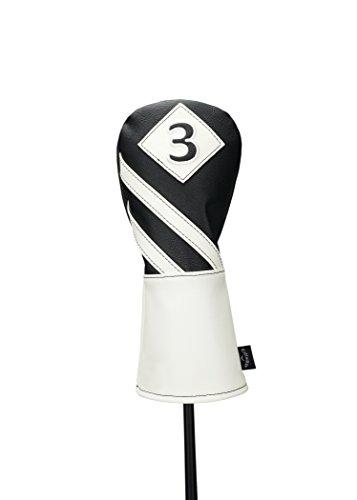 Callaway Golf Vintage Fairway Headcover Head Cover 2017 Vintage #3 Fairway Wood Black/White (Callaway Golf Head Covers)