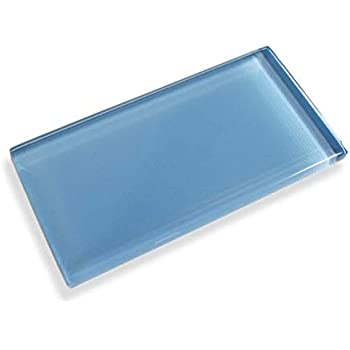 Cobalt Blue Frosted 3x9 Cobalt Blue Subway Glass Tile
