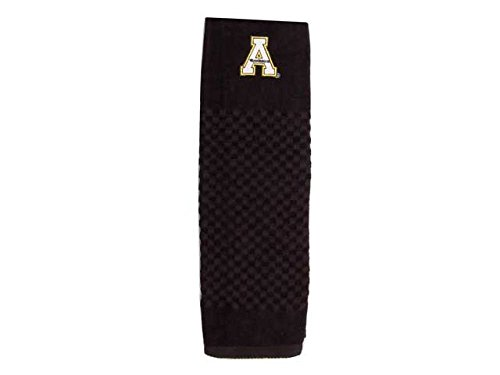 Team Golf NCAA Appalachian State Mountaineers Embroidered Golf Towel, Checkered Scrubber Design, Embroidered Logo Appalachian State Mountaineers Golf