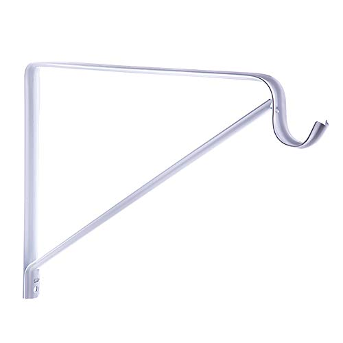 Specialty Hardware 9inch x 10inch Shelf L Brackets Shelf Support Corner Brace Joint Right Angle Bracket White Coated with Screws 20pcs