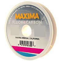 Maxima Fishing Line Fluorocarbon Leader Wheel, Clear, 5-Pound/27-Yard