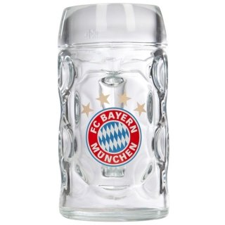 FC Bayern München Halbe-Maßkrug Bierglas 0,5 l