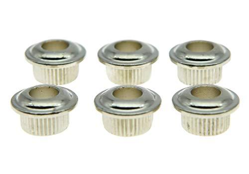 Dopro Metal Nickel 10mm Guitar Tuners Conversion Bushings Adapter Ferrules for Vintage Guitar Tuning Keys