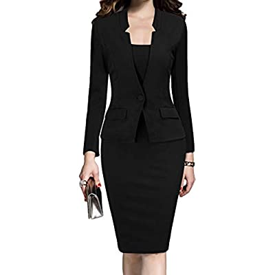 MUSHARE Women's Formal Office Business Work Business Party Bodycon One-Piece Dress at Women's Clothing store