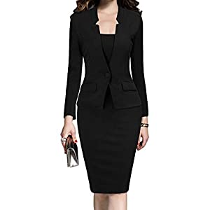MUSHARE Women's Formal Office Business Work Business Party Bodycon One-Piece Dress