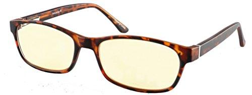 Eyecedar Computer Glasses Women Memory Material Frame Spring Hinges,Light Amber Lens Reducing Screen Blue Light And Glare,Uv Protection Include Glasses Case - Light Glares
