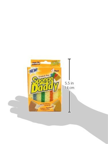 Scrub Daddy - Sponge Daddy Scratch Free Supersoft Absorbent Sponge - 3 Pack (4 Count)
