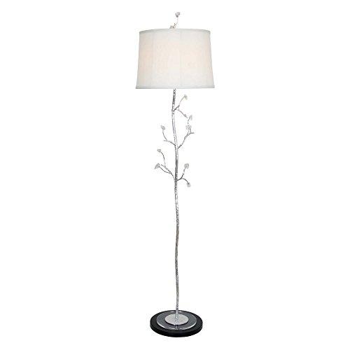 - Van Teal 465662 Frigid Crackled Ice Floor Lamp, Silver Leaf/Black Matte