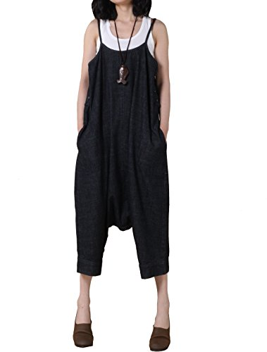 Vogstyle Mujer Harem Casual Jumpsuit Style 3 Thick Black