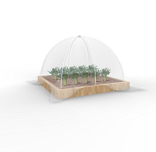 Agfabric Grow Tunnel, 4Ftx4Ft With 2.4Mil Film Special Design For Raised Bed
