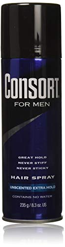 Consort For Men Hair Spray Unscented Extra Hold 8.30 oz (Pack of 3)
