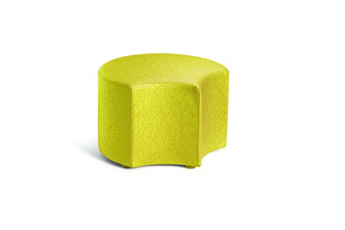 Logic Furniture MOONEZT12 Moon 4 Face Ottoman, 12'', Zest by Logic Furniture