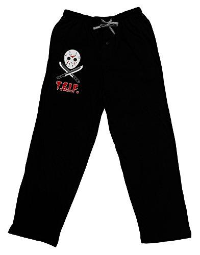 (Scary Mask With Machete - TGIF Adult Lounge Pants - Black-)