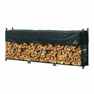 ShelterLogic Ultra Duty 8-foot Firewood Rack with Cover (94'' long x 14'' wide x 47'' high)