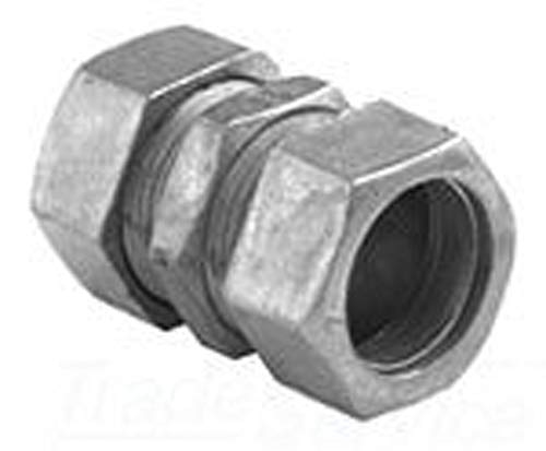 - Bridgeport 265-DC Compression Coupling, 2 in, for Use with Steel and Aluminum EMT Conduit, Die Cast Zinc