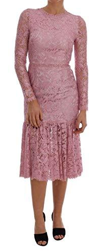 Dress Pink Dolce Gabbana - Dolce & Gabbana Pink Taormina Lace Floral Dress