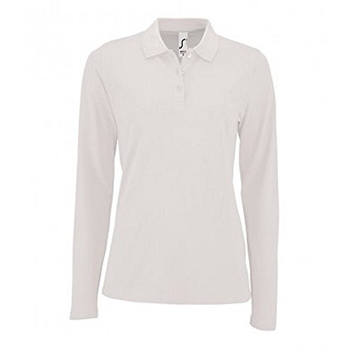 SOL'S Womens/Ladies Perfect Long Sleeve Pique Polo Shirt (L) - Cotton Golf Combed Pique Shirt