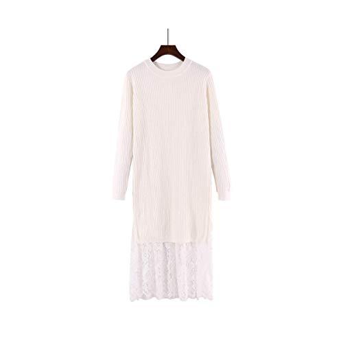 Donna Home Maglia Size Size One Moda Pullover Apricot Caldo Inverno color White Maglione Mon5f Autunno TAwdx1qET
