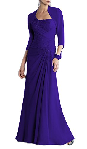 ALfany Women's Chiffon Mother of the Bride Dress Formal Gown with Jacket US14