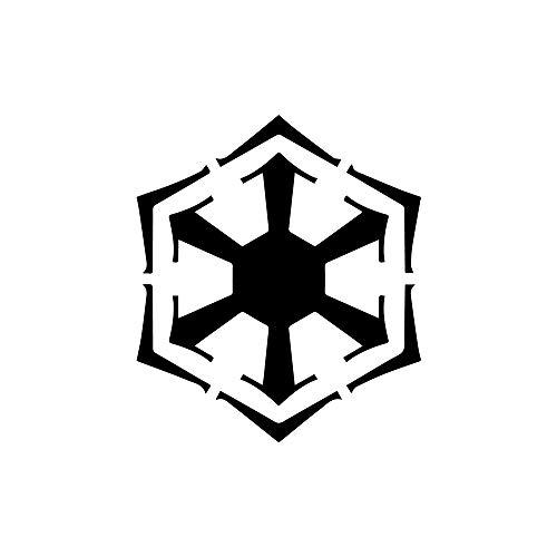 ANGDEST Sith Empire Bendu Symbol Inspired for (Black) (Set of 2) Premium Waterproof Vinyl Decal Stickers for Laptop Phone Accessory Helmet Car Window Bumper Mug Tuber Cup Door Wall Decoration ()