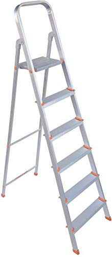 PARAS 6 Step Light Weight Aluminium Heavy Duty Folding Ladder | Made in India | Premium Quality