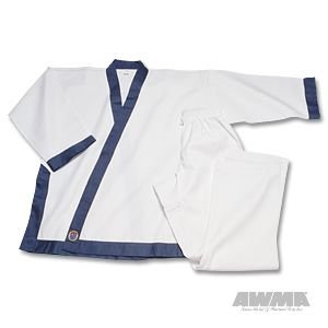 "ProForce 8oz Medium Weight Tang Soo Do Uniform - Blue - Size 5 (5'11"" / 210lbs)"