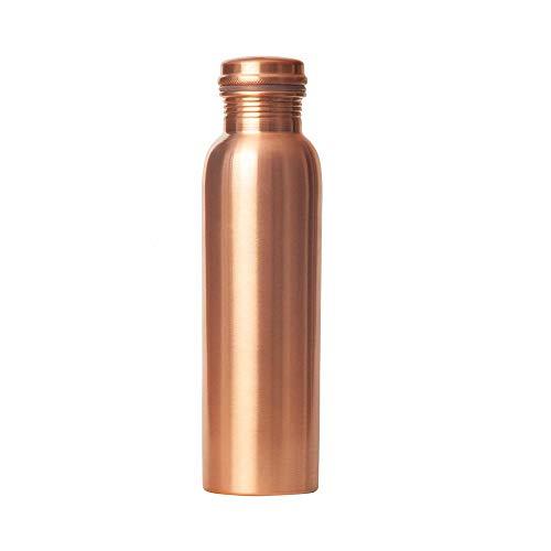 HealthAndWealth - Pure Copper Water Bottle 950 ml Leak Proof Bottle for Ayurvedic Health Benefits
