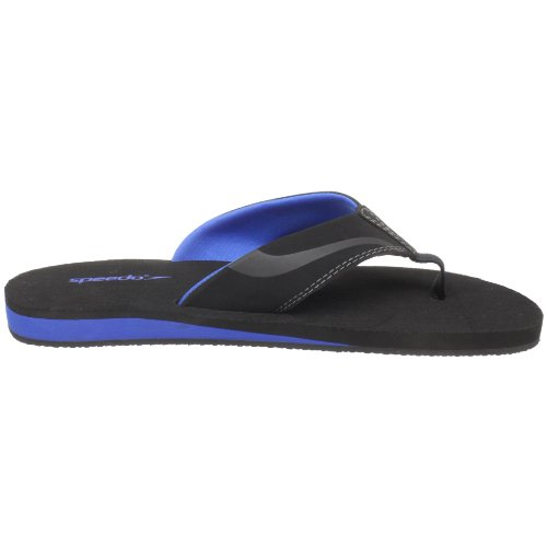 Speedo Mens Street Flip Flop Black/Royal QQpbzlNy