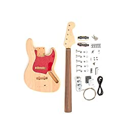 DIY Electric Bass Guitar Kit – Fretless 5 String J Bass Build Your Own