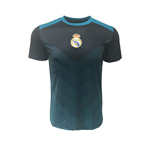 (Real Madrid Kids Training Jerseys, Official Black T-Shirts (Youth Large 10-12 Years))