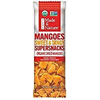 Made in Nature Organic Dried Fruit, Mangoes, 1 oz Bags (10 Count) – Non-GMO, Unsulfured Vagan Snack