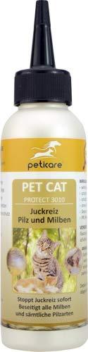 Peticare Spezial-Pflege bei Juckreiz, Milben bei Katzen – Stoppt effektiv Jucken durch Pilzbefall und Milbenbefall, rein…
