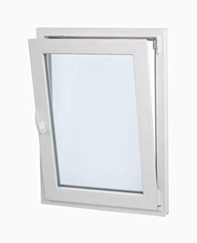 Vetro Opaco Resistente al sole Apertura a destra Comodo Doppio vetro Climalit Battente Inclinabile Finestra PVC 60 cm x 70 cm Elevato isolamento termico e acustico