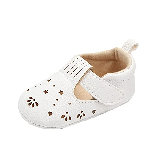 Baby Toddler Shoes, Baby Fashion Summer Soft Walker Non-Slip Hollow Variety Crib Shoes(White_1,11)