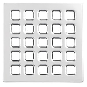 USG Durock Shower System- Pro Series Grate- 5'' Professional Grate Chrome