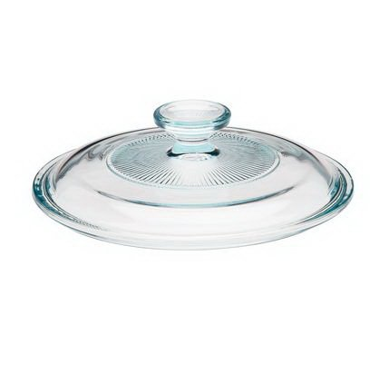 CORNINGWARE French White 1-1/2-qt Fluted Round Glass Cover