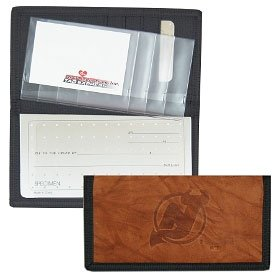 - New Jersey Devils Leather/Nylon Embossed Checkbook Cover