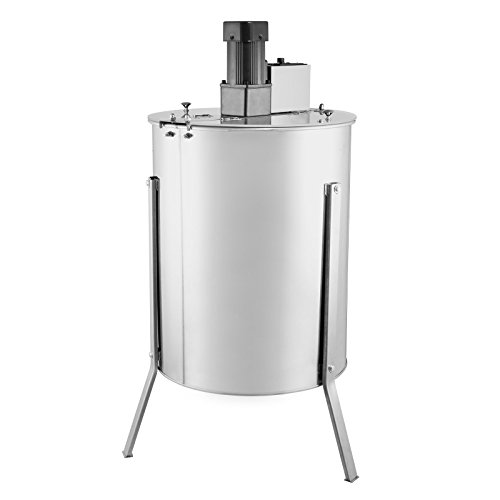 Happybuy 4XXD Stainless Steel 4 Frame Electric Honey Extractor