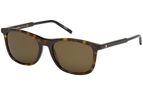 Mont Blanc MB593S Sunglasses Dark Havana w/Gray Brown Lens 52J MB 593S