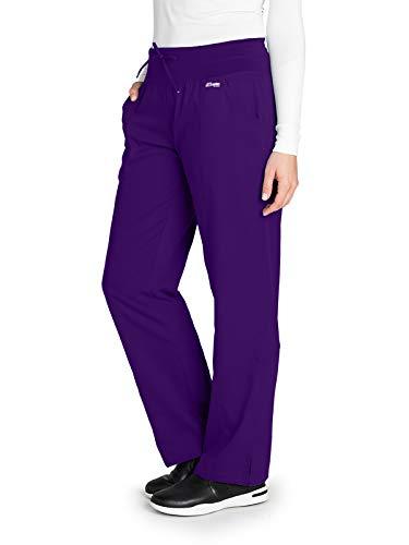 (Grey's Anatomy Active 4276 Women's 4 Pocket Low Rise Wide Waist Scrub Pant Vivid Violet SP)