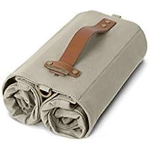 Linus Bike Market Roll-Up Pannier Bag - Sand
