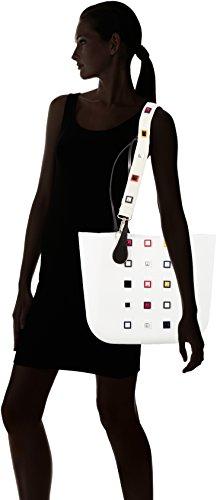 Bianco Multicolore à sac B001 main 008 OBAG wRqaBZn